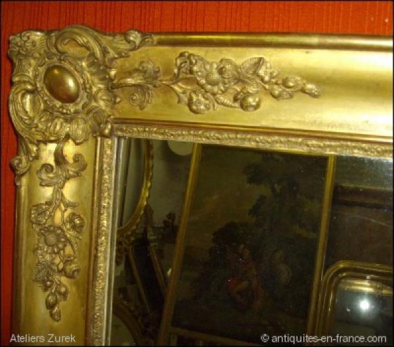 Miroir poque restauration r f 413 ateliers zurek for Restauration miroir