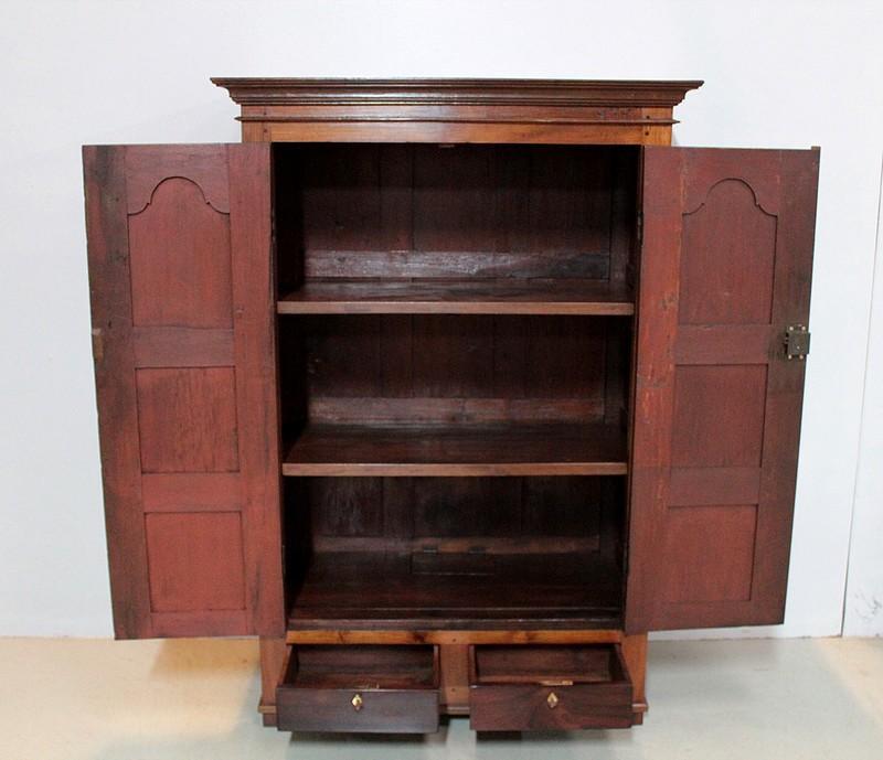 armoire epices go t louis xiv en teck inde xixe. Black Bedroom Furniture Sets. Home Design Ideas