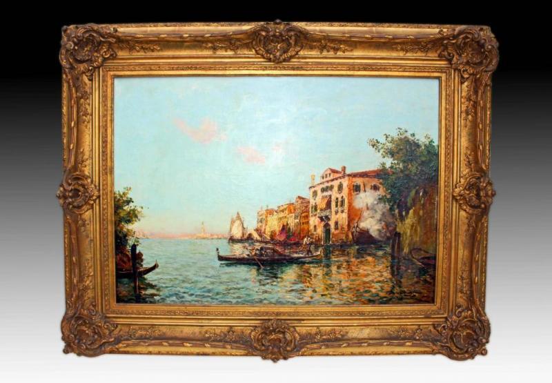 Charles COUSIN tableau XIXe grande peinture de Venise ...
