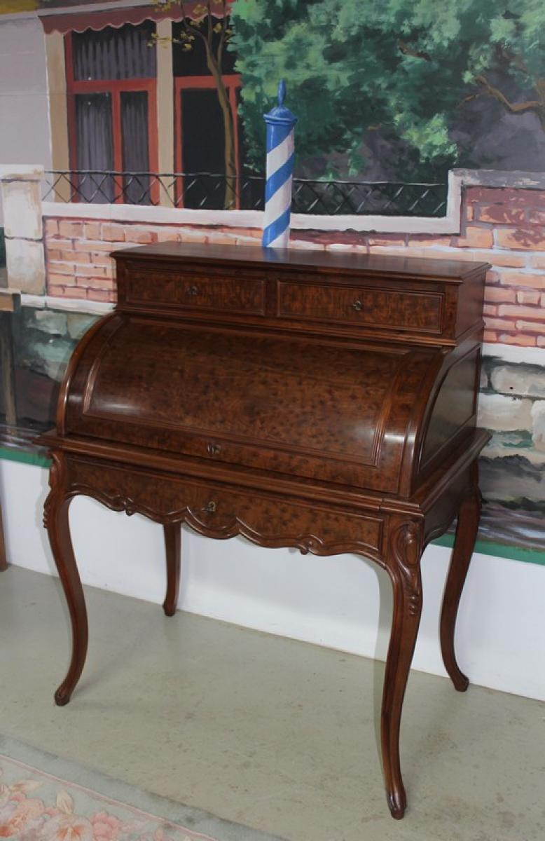 bureau cylindre antiquites en france. Black Bedroom Furniture Sets. Home Design Ideas