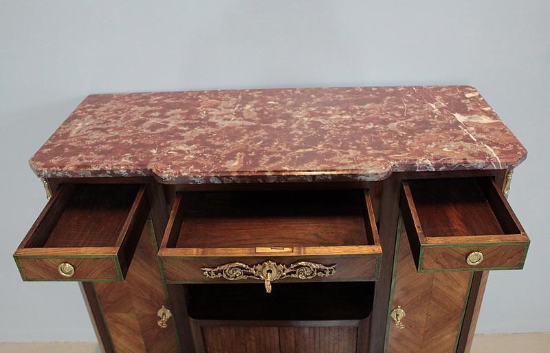 Meuble d 39 entre deux louis xv louis xvi 19 me antiquites lecomte - Rangement entre deux meubles ...