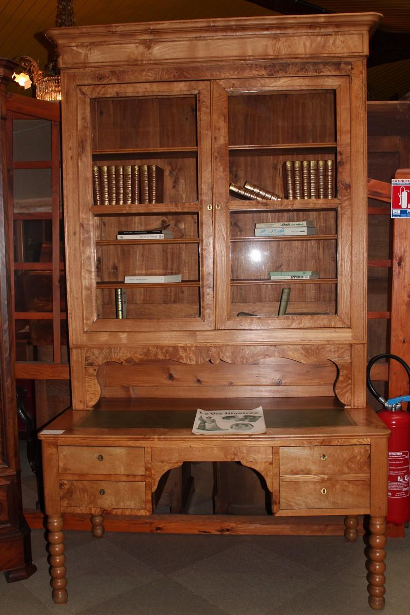 Bureau biblioth que louis philippe en fr ne antiquites for Bureau bibliotheque
