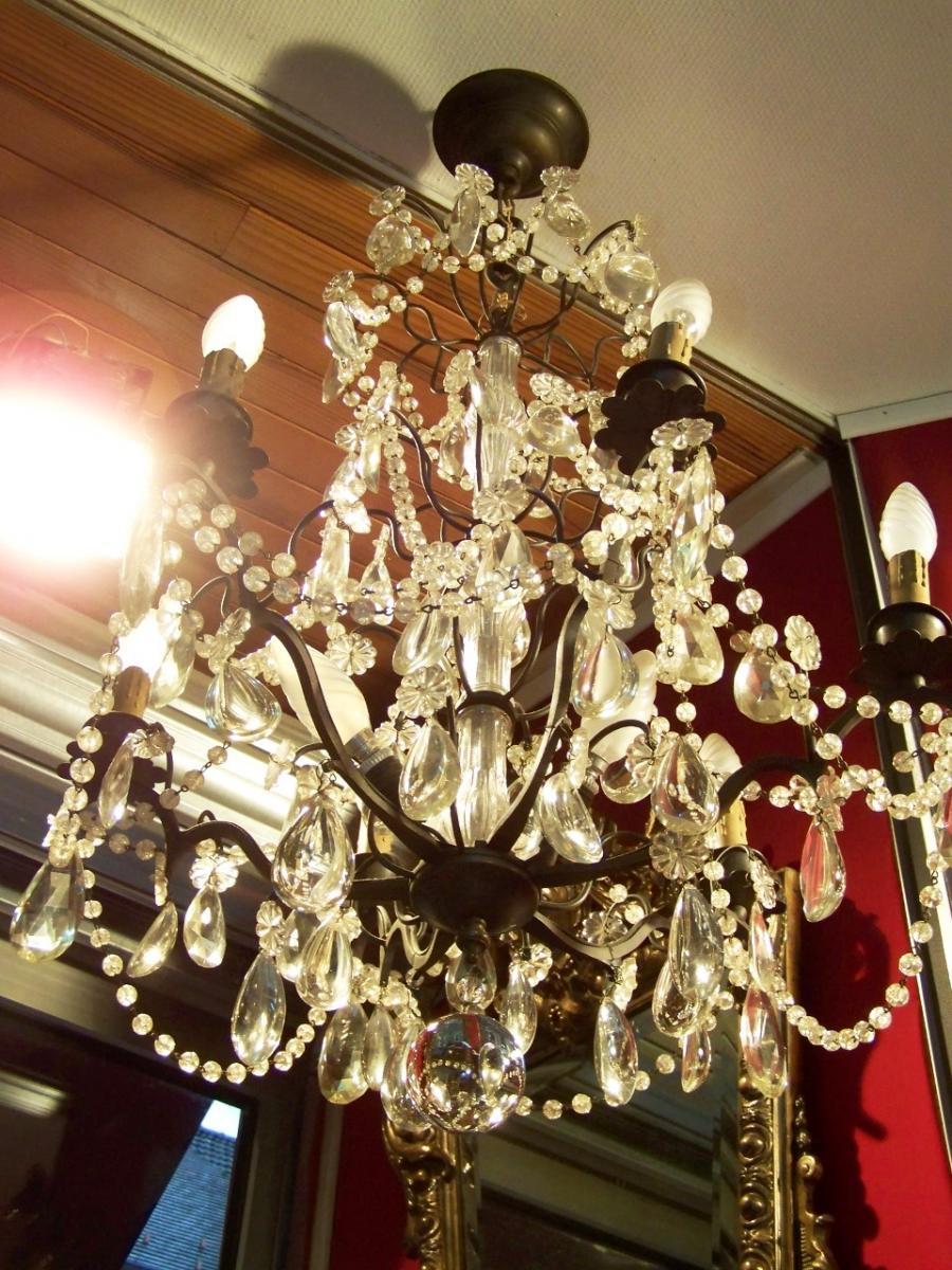 lustre de style louis xv l 39 atelier de la dorure. Black Bedroom Furniture Sets. Home Design Ideas