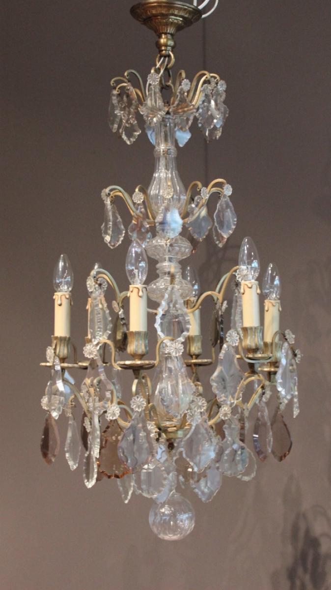 lustre en cristal et bronze antiquit s christophe rochet. Black Bedroom Furniture Sets. Home Design Ideas