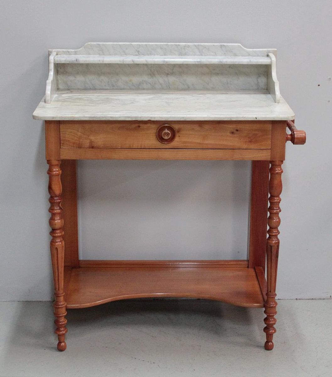 table de toilette en merisier massif 1920 antiquites lecomte. Black Bedroom Furniture Sets. Home Design Ideas
