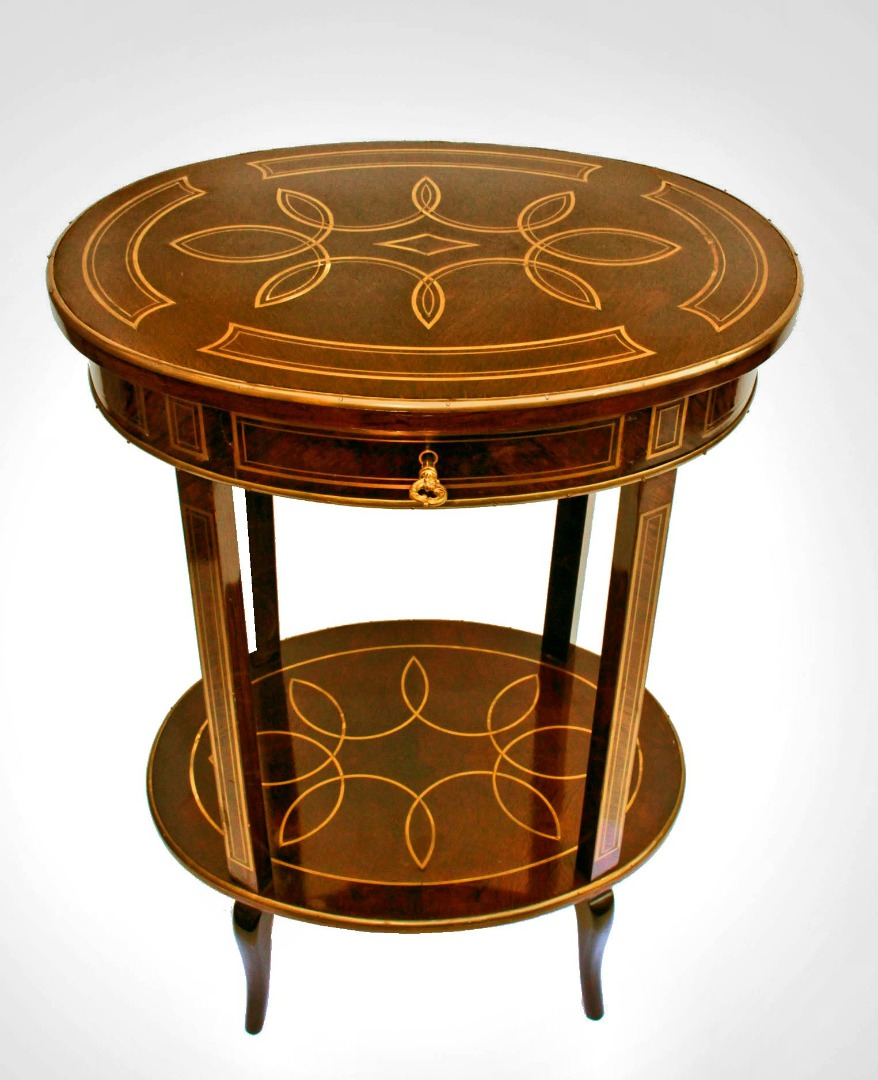 Emile GALLE table en marqueterie Art Nouveau 1900