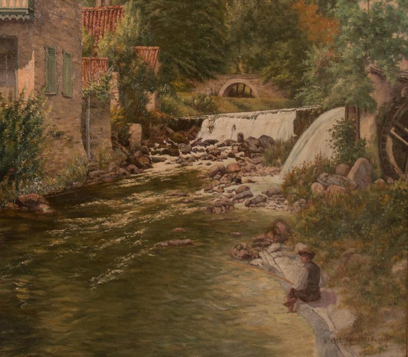 Tableau paysage de savoie sign abel boulineau 1839 1934 for Delta 0 tableau de signe