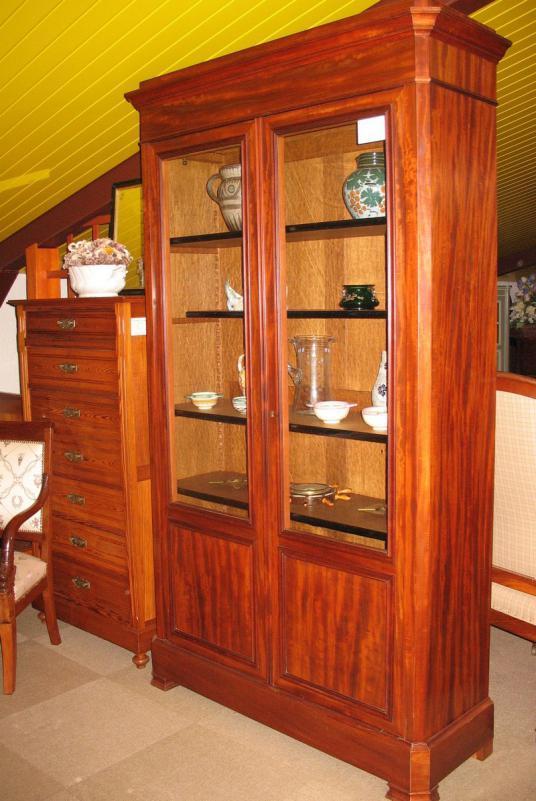 biblioth que en acajou xixeme antiquites lecomte. Black Bedroom Furniture Sets. Home Design Ideas