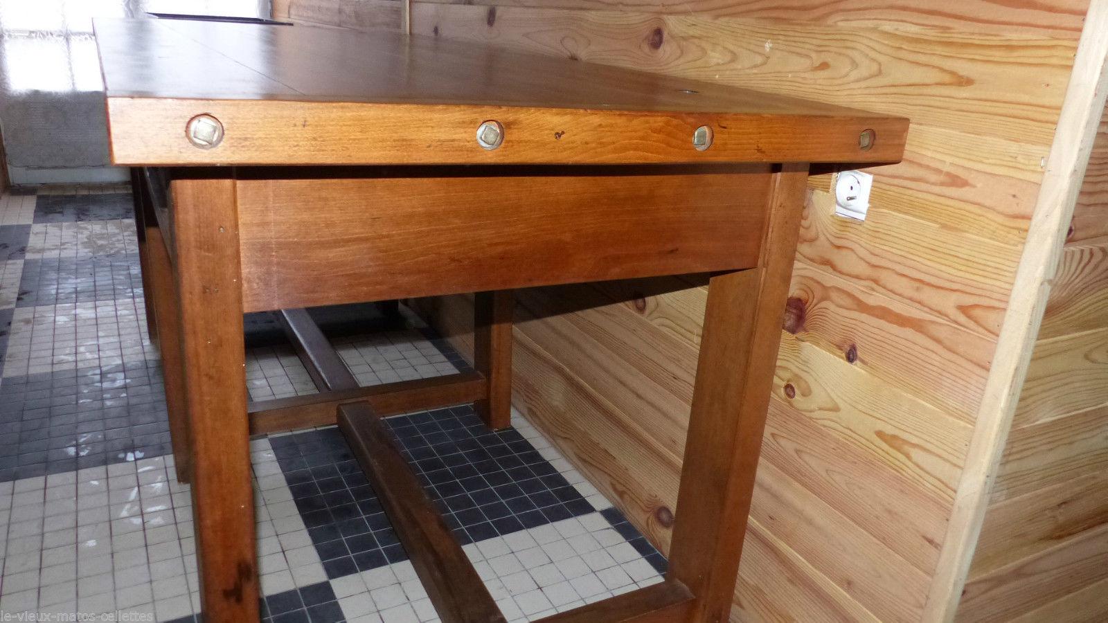 grande table ou tabli d 39 horloger en h tre d but xx me. Black Bedroom Furniture Sets. Home Design Ideas