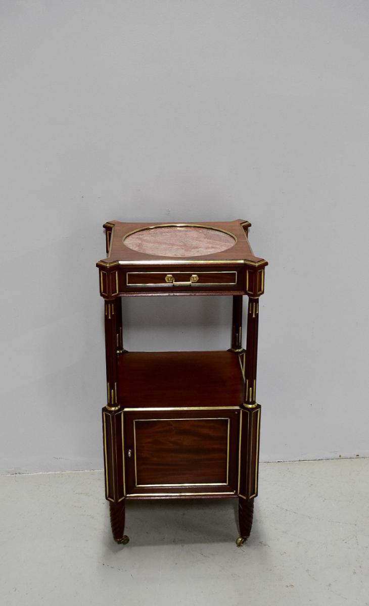 petite table de chevet louis xvi xix me antiquites lecomte. Black Bedroom Furniture Sets. Home Design Ideas