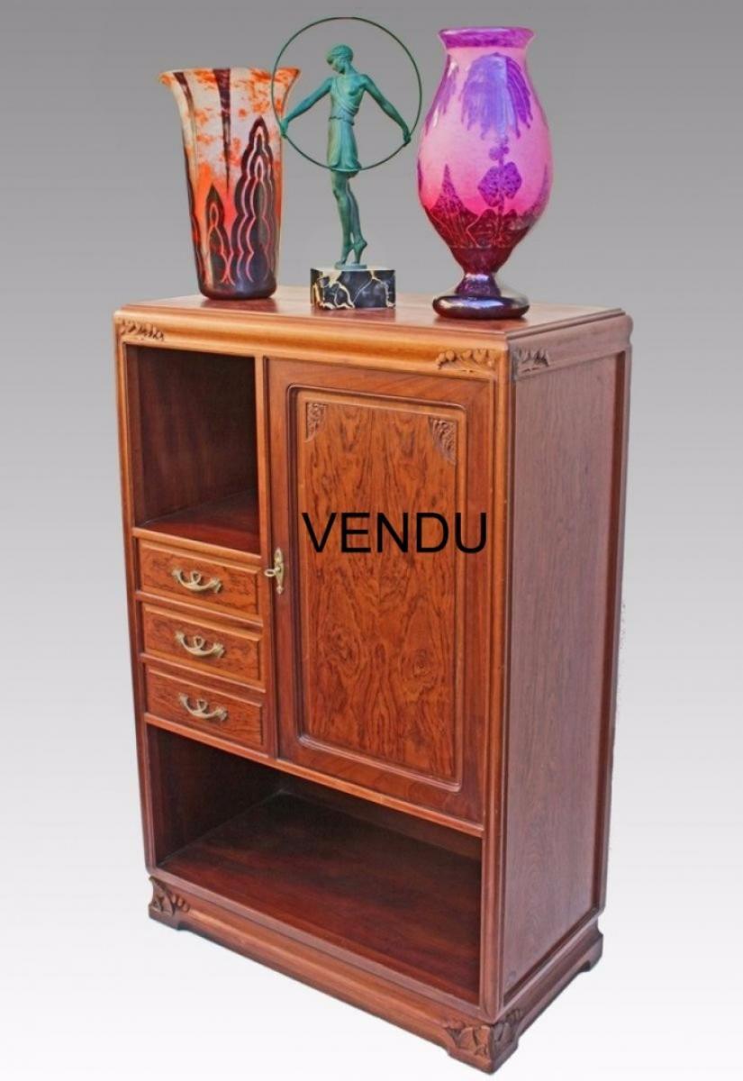 Louis majorelle meuble d 39 appui art nouveau mod le algues galerie - Art nouveau meuble ...