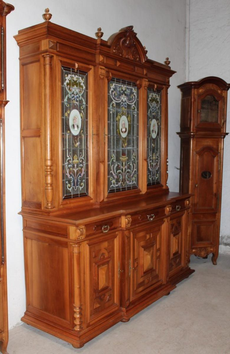 meuble deux corps en noyer 1900 antiquites lecomte. Black Bedroom Furniture Sets. Home Design Ideas
