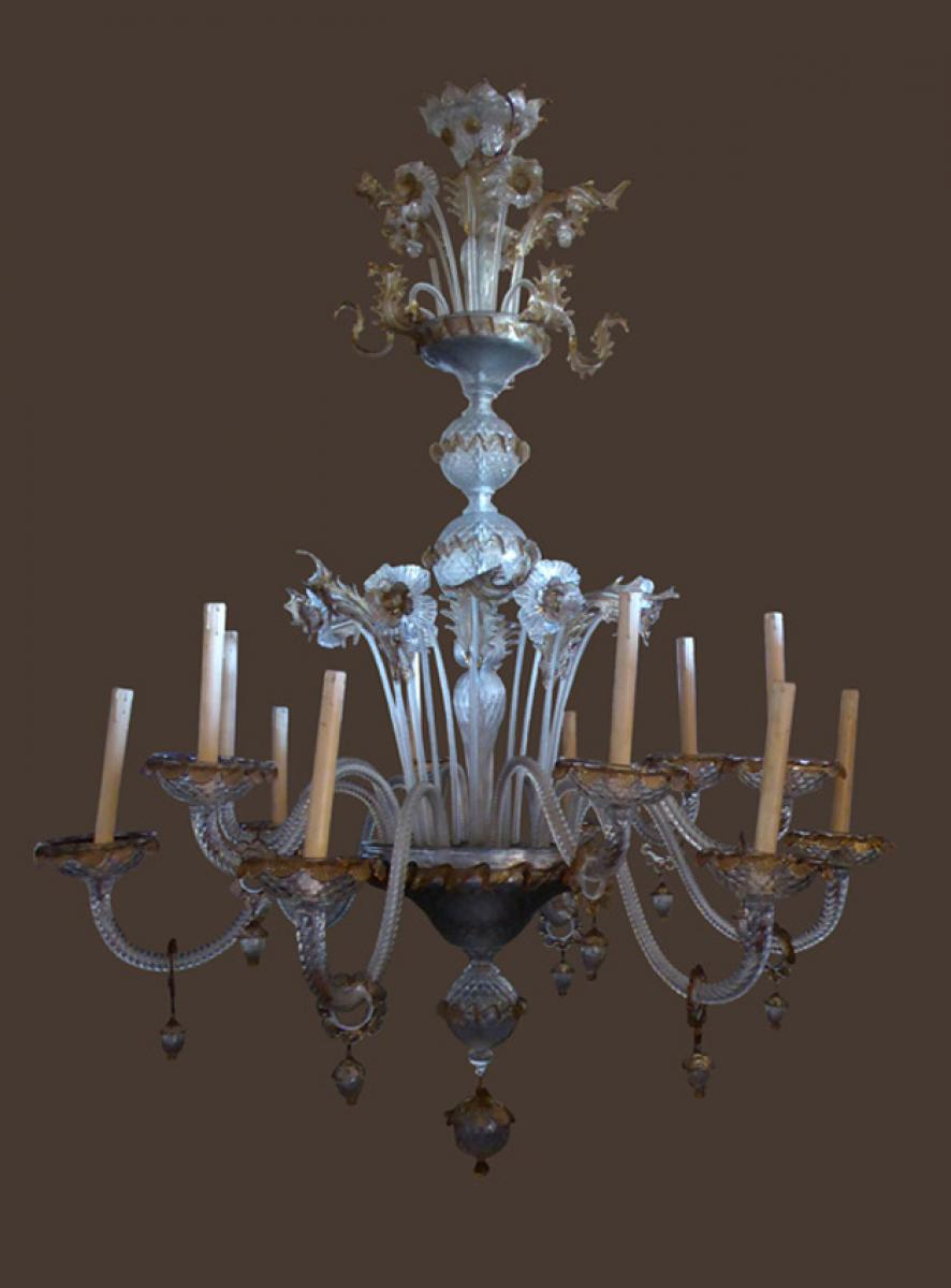 important lustre en verre de murano philippe cote antiquites. Black Bedroom Furniture Sets. Home Design Ideas