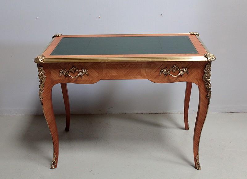 bureau de style louis xv en bois de rose xxe antiquites. Black Bedroom Furniture Sets. Home Design Ideas