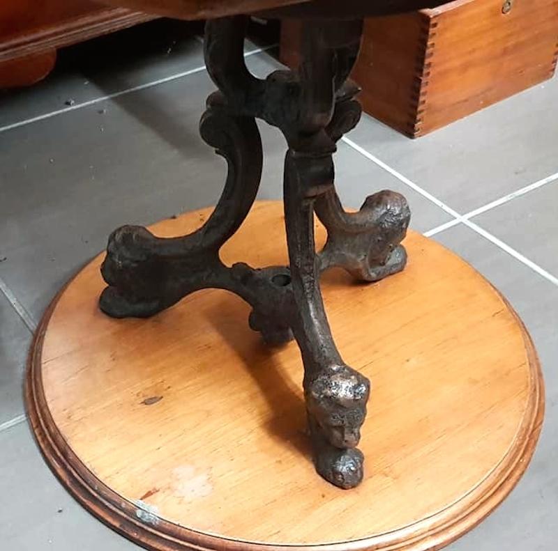 fauteuil de paquebot de salle manger bureau pied fonte. Black Bedroom Furniture Sets. Home Design Ideas