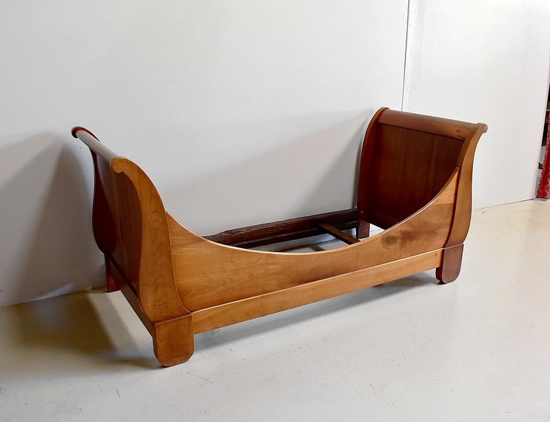rare petit lit bateau louis philippe xix me antiquites lecomte. Black Bedroom Furniture Sets. Home Design Ideas