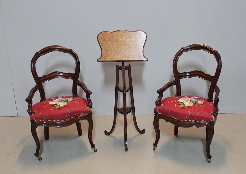 paire de fauteuils napoleon iii en acajou xixeme antiquites lecomte. Black Bedroom Furniture Sets. Home Design Ideas