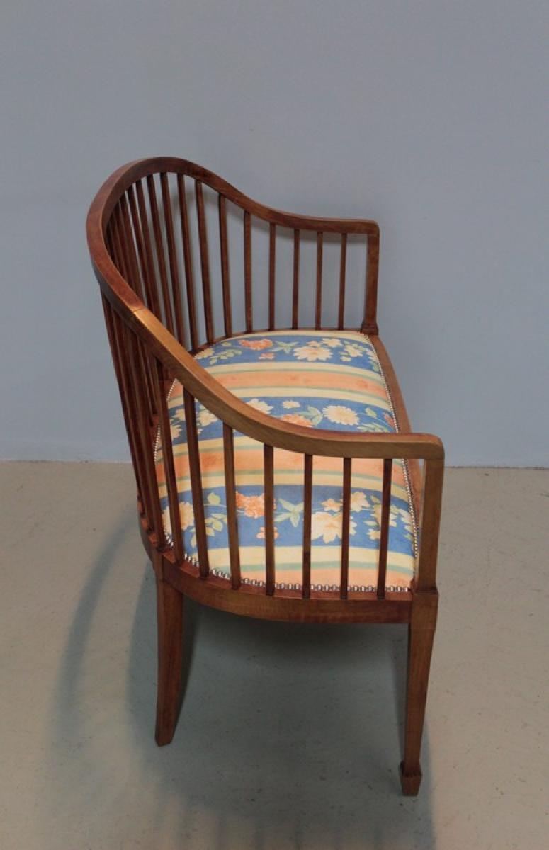 banquette art d co en h tre xxeme antiquites lecomte. Black Bedroom Furniture Sets. Home Design Ideas