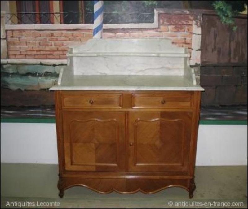 meuble de toilette en noyer xxeme antiquites lecomte. Black Bedroom Furniture Sets. Home Design Ideas
