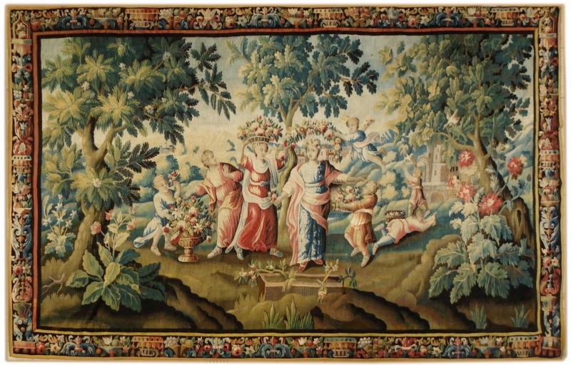 Tapisseries anciennes 17 me si cle antiquites en france - Tapisserie murale ancienne ...