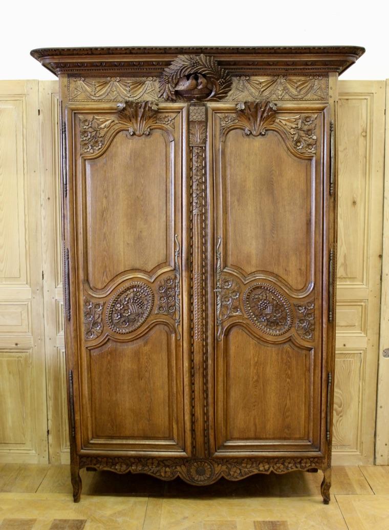 Armoire normande de mariage xix antiquit s christophe rochet - Armoire normande de mariage ...