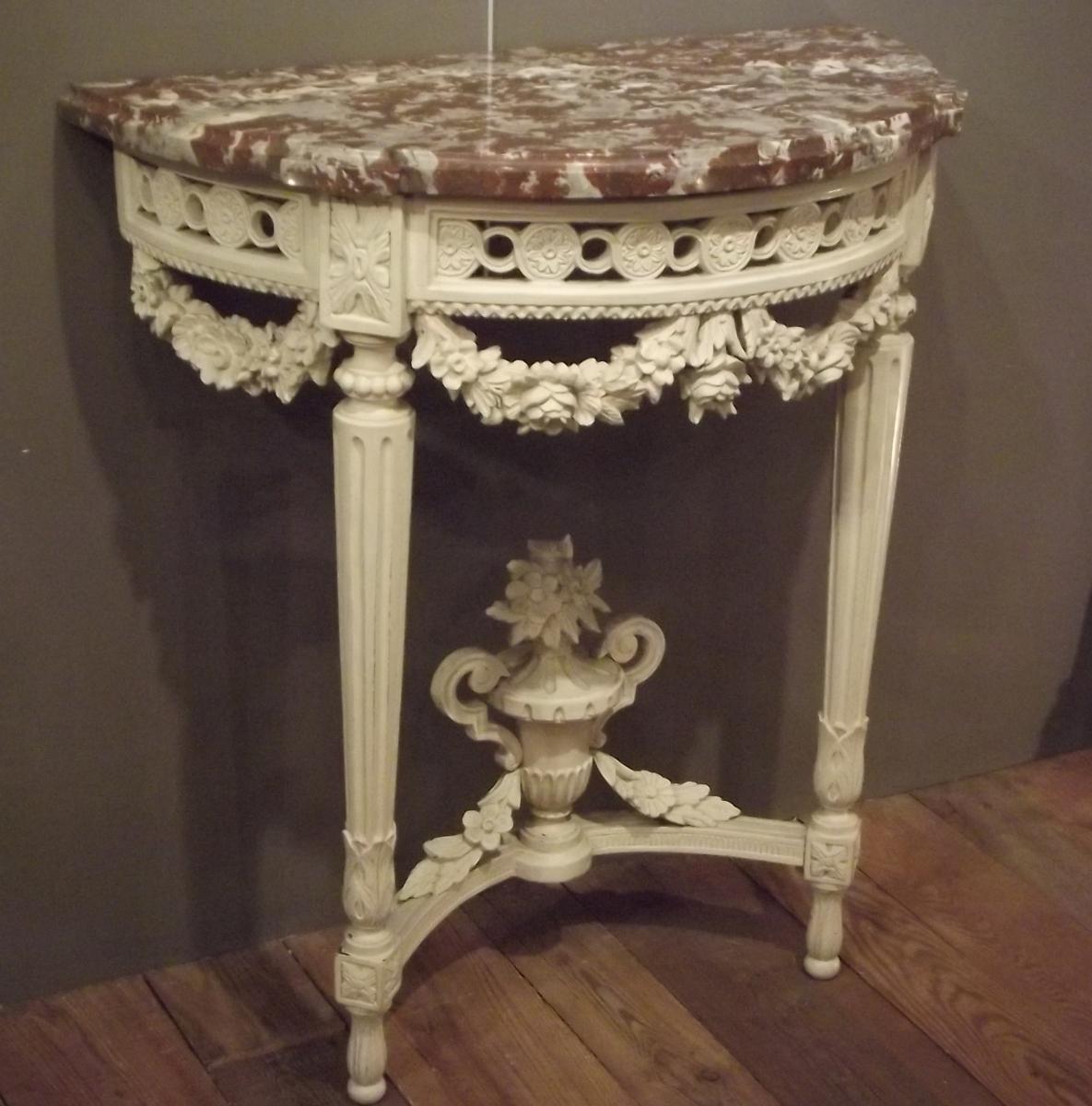 consoles louis xvi antiquites en france. Black Bedroom Furniture Sets. Home Design Ideas