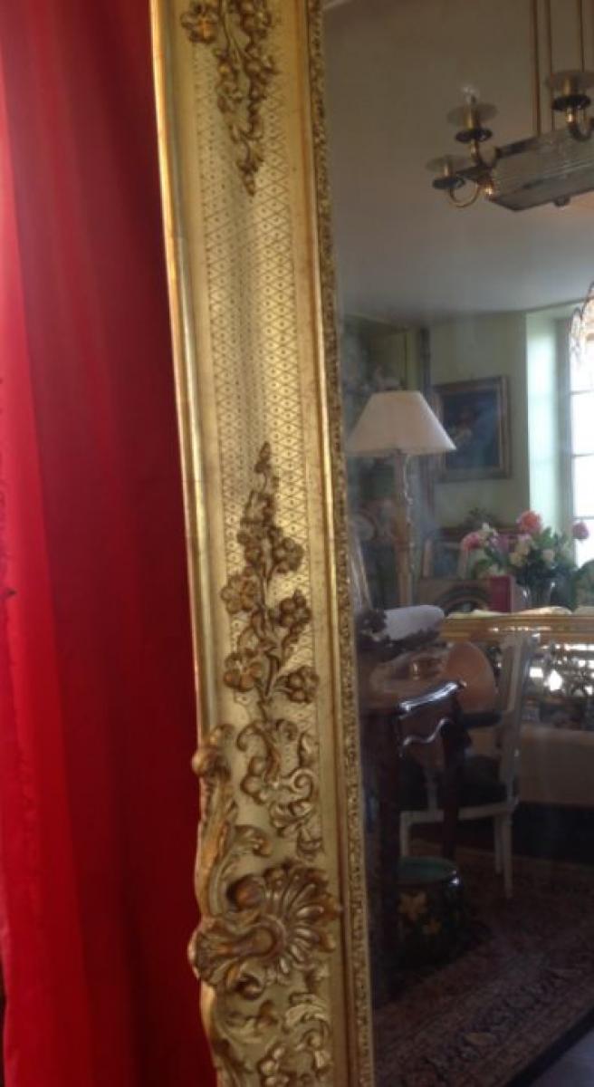 Miroir dor poque restauration antiquites for Restauration miroir ancien