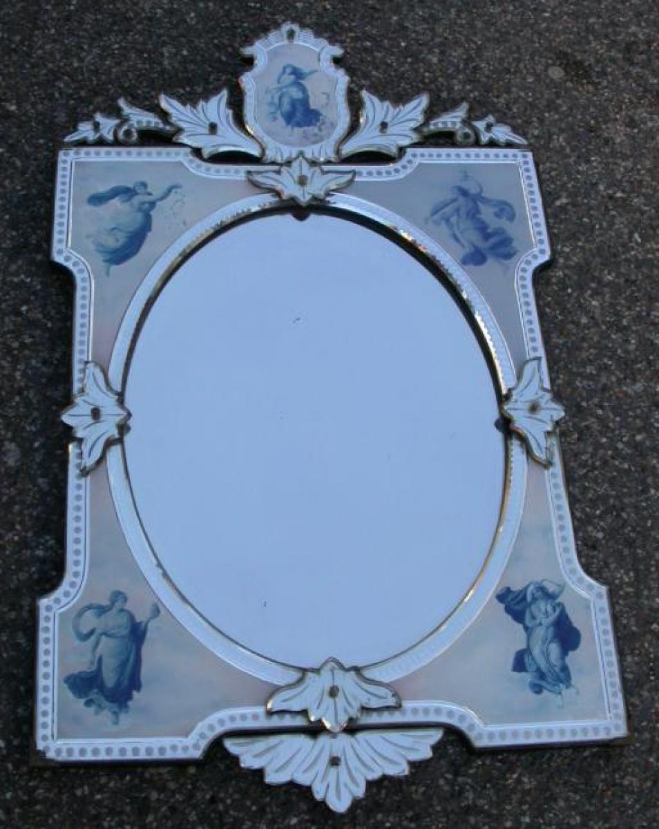 miroirs anciens art nouveau antiquites en france. Black Bedroom Furniture Sets. Home Design Ideas