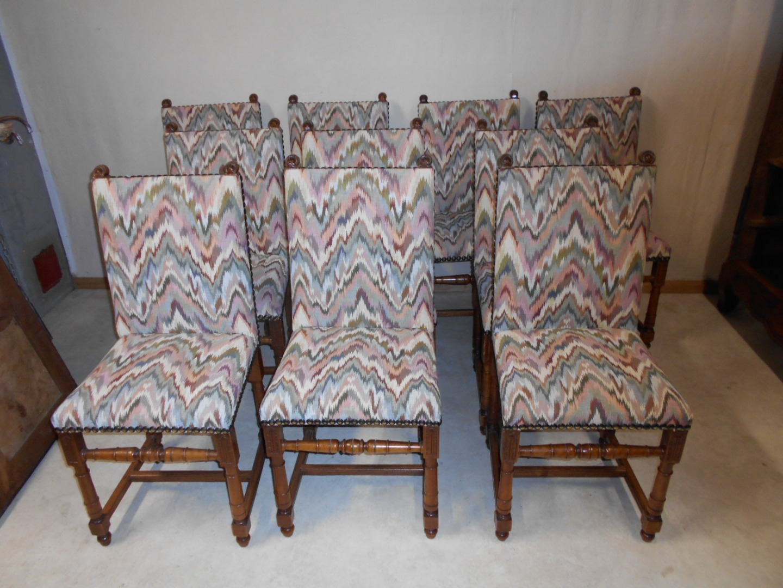 Style De Chaises Anciennes lot de dix chaises renaissance