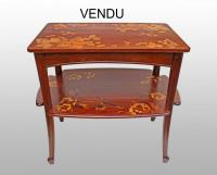 Louis MAJORELLE table desserte Art Nouveau vers 1900