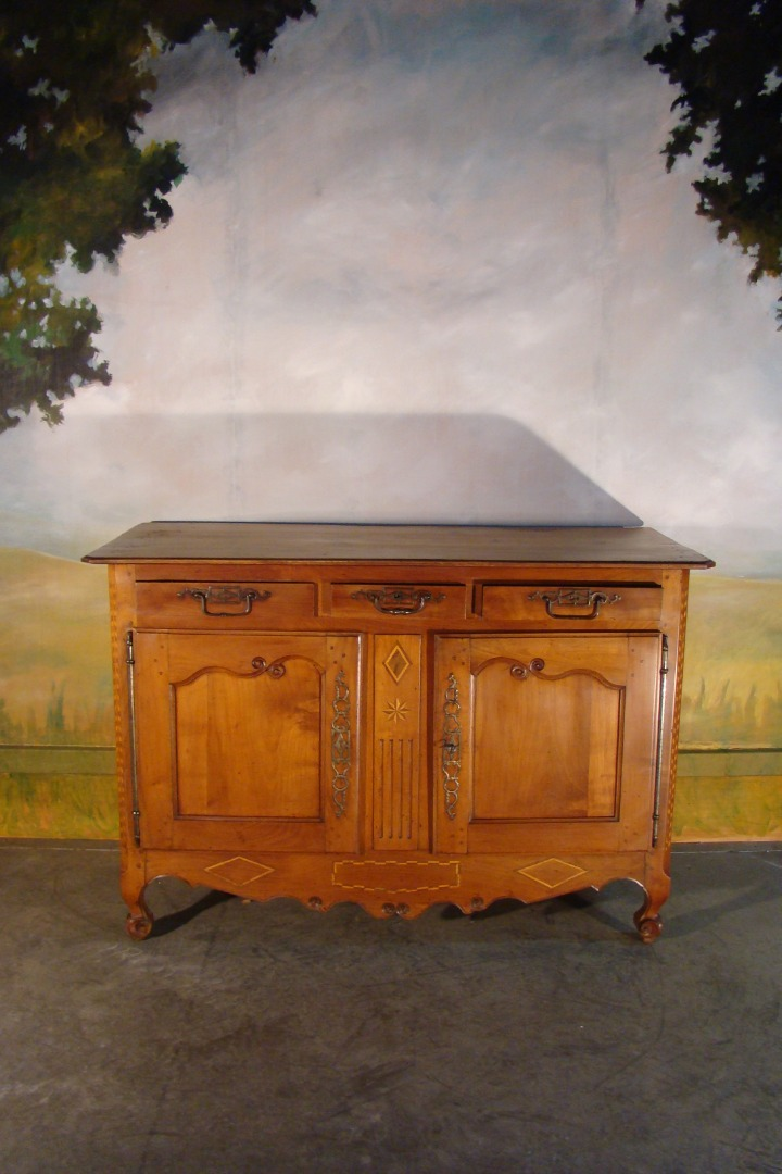 Buffet Louis XV en merisier