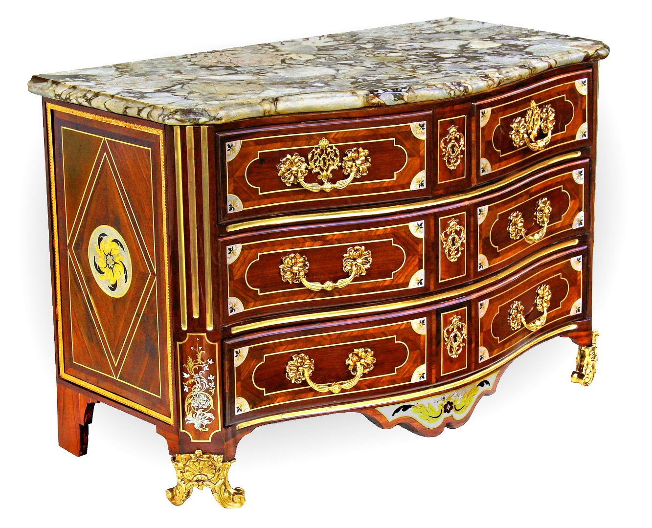 Commode Louis XIV estampillée J*L*F DELORME