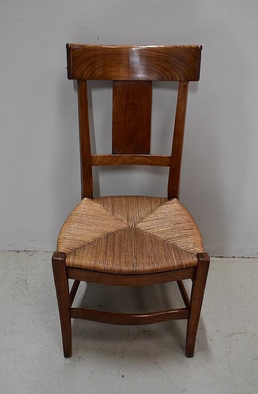 Chaise à Langer Paillée en Merisier, époque Directoire – 1ère partie du XIXe