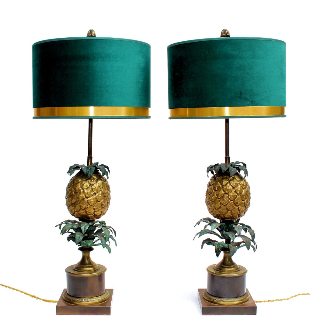 "Maison Charles Paire de lampes ""Ananas"""