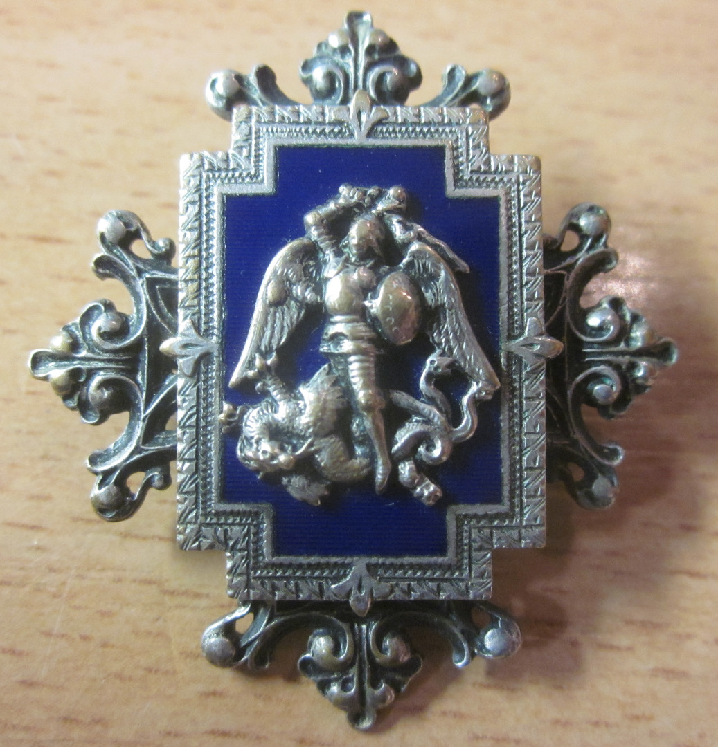 Dragon Broche dragon métal argenté