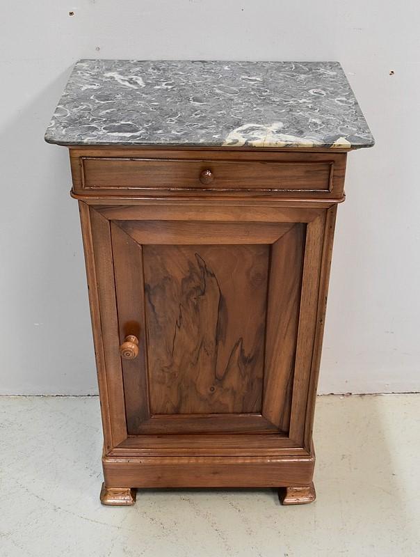 Table de Chevet d'époque Directoire en Noyer Italie du