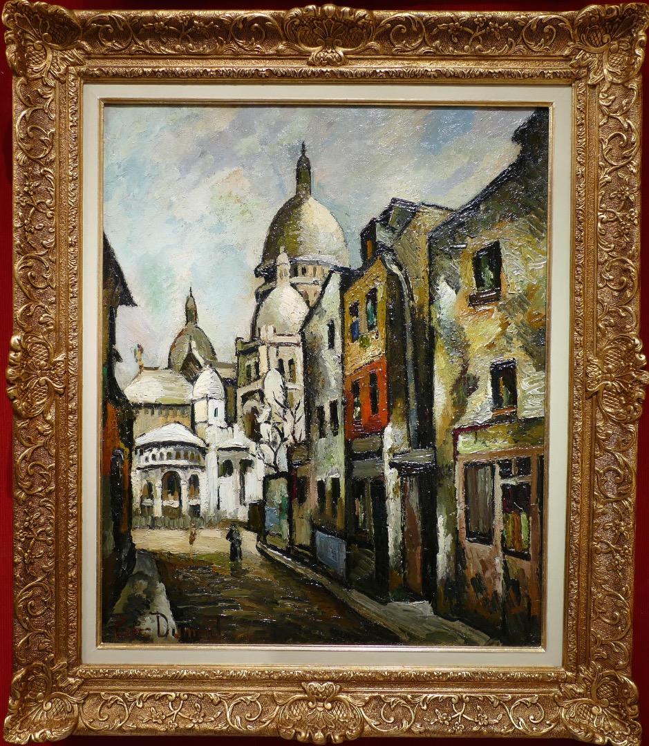 Dumont Pierre Tableau 20eme Siecle Paris Montmartre Le Sacre Coeur