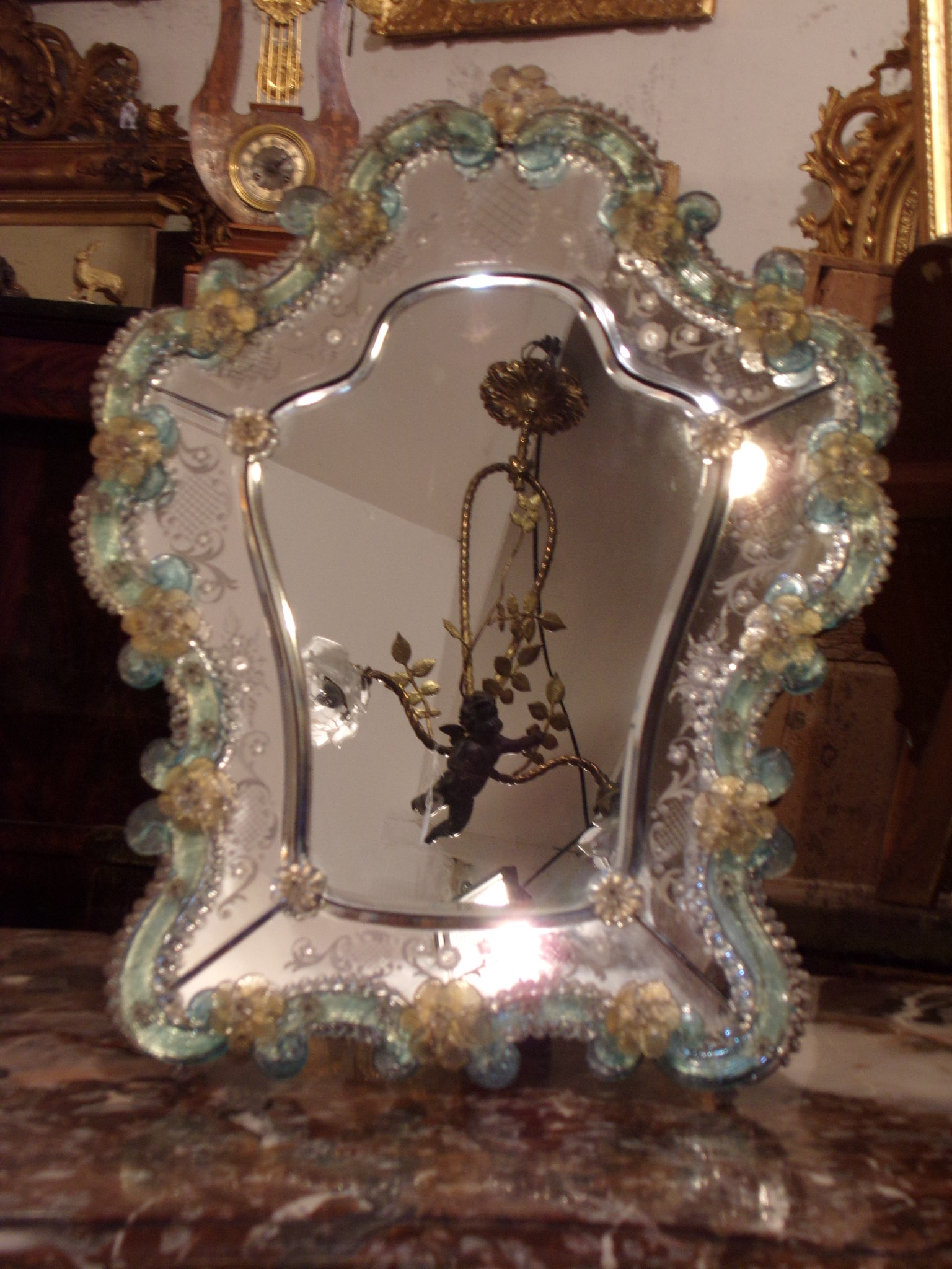 Miroir de table Venise (1880/1900)