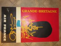 Affiche originale Air France par Georges Mathieu - Grande-Bretagne-