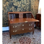 Belle Commode Scriban En Acajou De Cuba Epoque Louis XV
