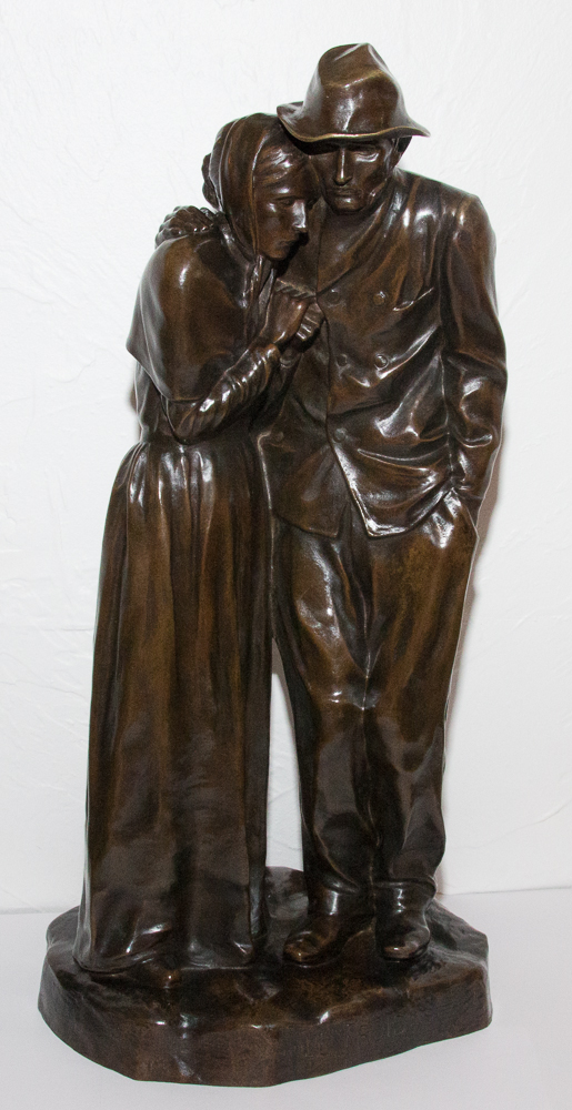 Le Froid sculpture en bronze Roger BLOCHE 1865-1943