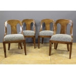 Suite de quatre chaises gondoles Empire