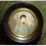 Portrait d'officier Miniature F.Dumont