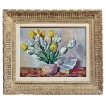 Nature Morte au bouquet de tulipe vers 1950