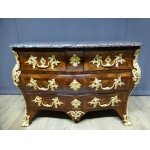 Commode tombeau Louis XV en marqueterie