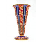 Longwy grand vase Art Déco