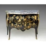 Commode Louis XV en laque de Chine
