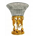 Grande coupe style Empire bronze et cristal