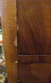 "Armoire penderie anglaise, ""Tall boy"", placage"