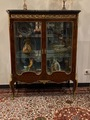 Vitrine De Style Transition Louis XV Louis XVI Bois De Rose Epoque Debut XXeme